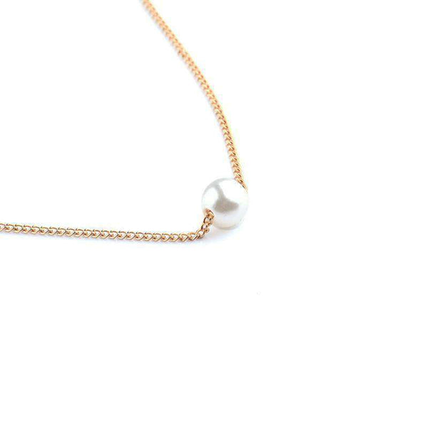 Einfach Pearl Collarbone Chain Layers Neacklace Set