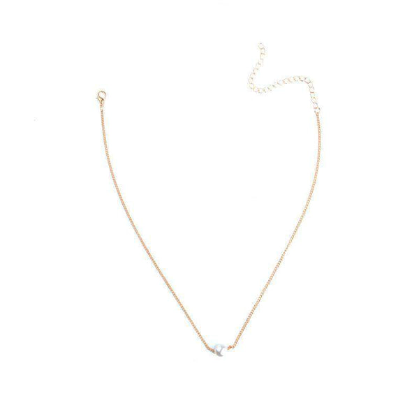 Simplu Pearl Chain Layer Chain Layer Neacklace Set
