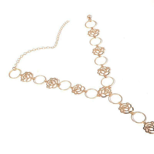 Hollow Rose Choke Bodychain - Lupsona