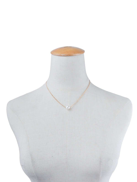 Simple Pearl Collarbone Chain Layers Neacklace Set