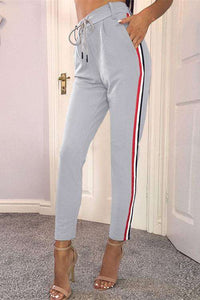 Sporty Side Lines High Waisted Pencil Hosen