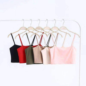 Cotton Strappy Crop Top & Mini Skirt Set - Lupsona