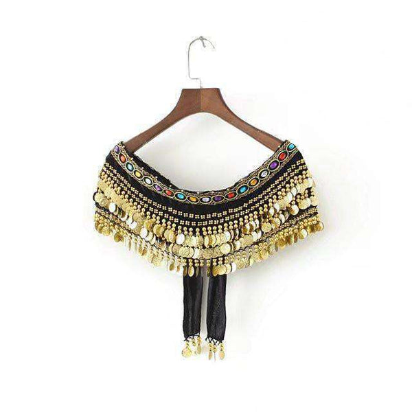 Boho Monedas Tassels Tube Top - Lupsona