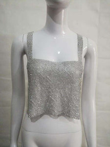 Twinkling Diamond Clubwear Festival Crop Tank Top