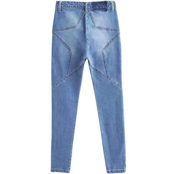 Butt Star Patrún High Waist Slim Jeans - Lupsona