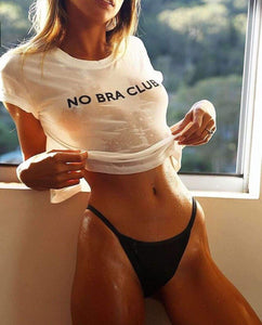 NO BRA CLUB Funny Printed Crop Top - Lupsona