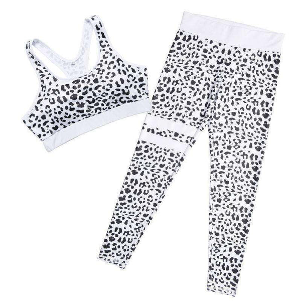 Leopard Printed 2 Pieces Sports Set - Lupsona