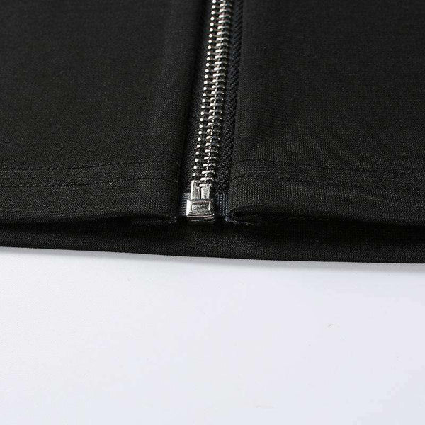 Zipper Pensil Skirt Pensil