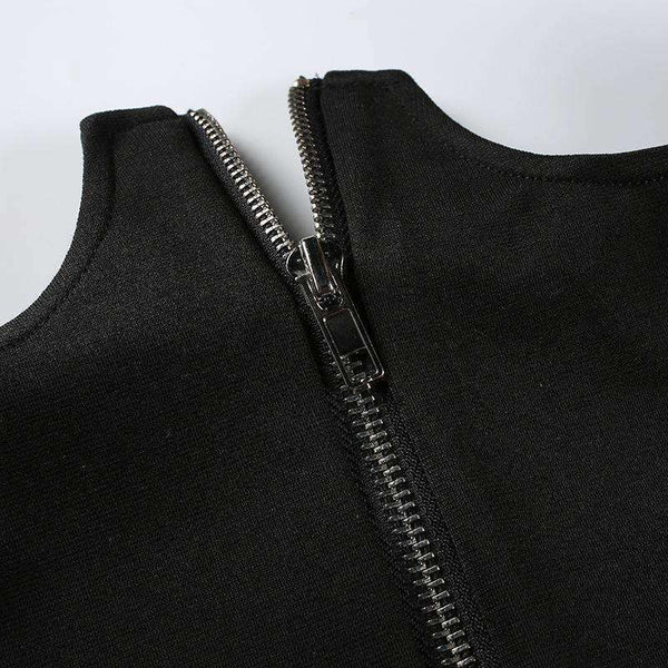 Zipper Chest-up Bleistiftrock