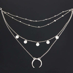 Crescent Anhänger Multi-Layer Collarbone Necklace - Lupsona