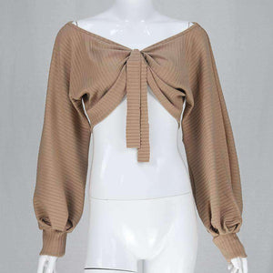 Multi-way Puff Sleeve Cut Top - Lupsona