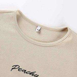 Peachy Letters Slim Bodysuit Top - Lupsona