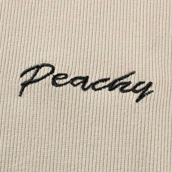 Peachy Letters Slim Body Top