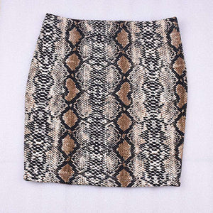 Snake Print Package Hip Mini-skjørt - Lupsona