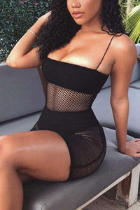 Sexy Beach Fishnet Mesh Slip Dress - Lupsona