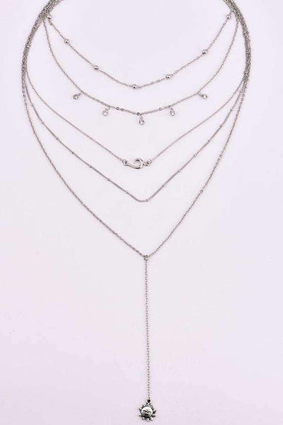 Bohemian Sun Anhänger Multi-Layer-Diamant-Collier-Set - Lupsona