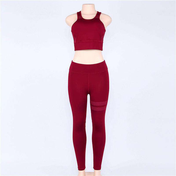 Solid Color Yoga Sport 2 Pieces Set