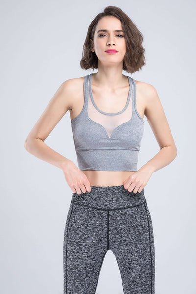 Gaas Patchwork Bustier Sports Tank Top - Lupsona