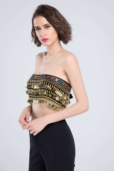 Boho Coins φούντες Tube Top - Lupsona