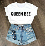 QUEEN BEE Belgilar Cool Pamukli T-shirt - Lupsona