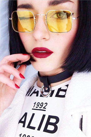 Chic Retro Square Shaped Sunglasses