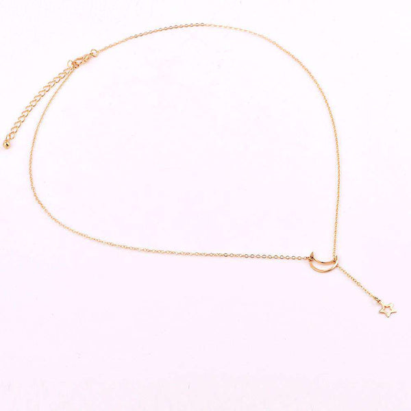 Preprost Y-Type Star Moon Choker