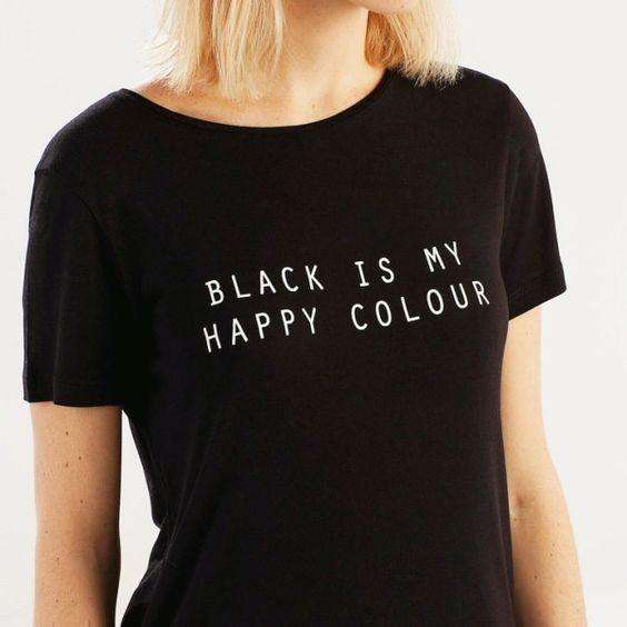 BLACK IS MY HAPPY COLOR Casual majica - Lupsona
