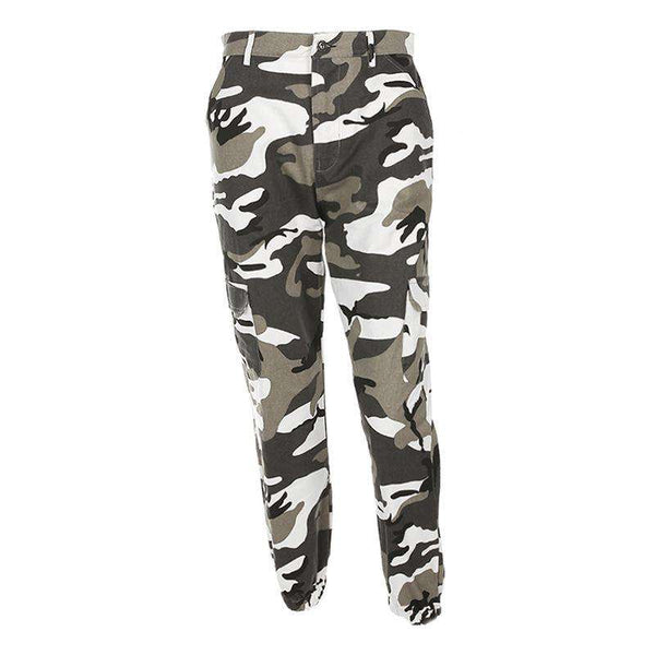 6 Colors Contraste Camuflagem Loose Cool Pants - Lupsona