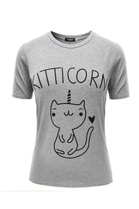 Tričko Kitticorn Pattern Cotton Casual - Lupsona