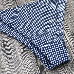 Gingham Side Tie-up 2 Bikini-setit - Lupsona
