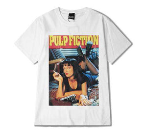 Pulp Fiction Plakat Print Oversize T-shirt - Lupsona
