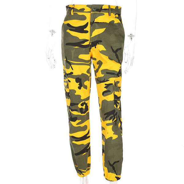 6 Colors Contrast Camouflage Loose Cool Pants - Lupsona