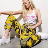 6 Colors Contrast Камуфляж Loose Cool Pants - Lupsona