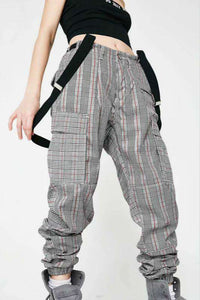 high waisted chic cargo pants overalls - Lupsona