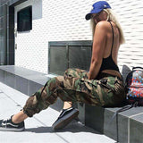 Camouflage Print Ankle-tied Pants
