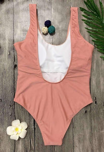 Einfach Solid Color One Piece Swimsuit