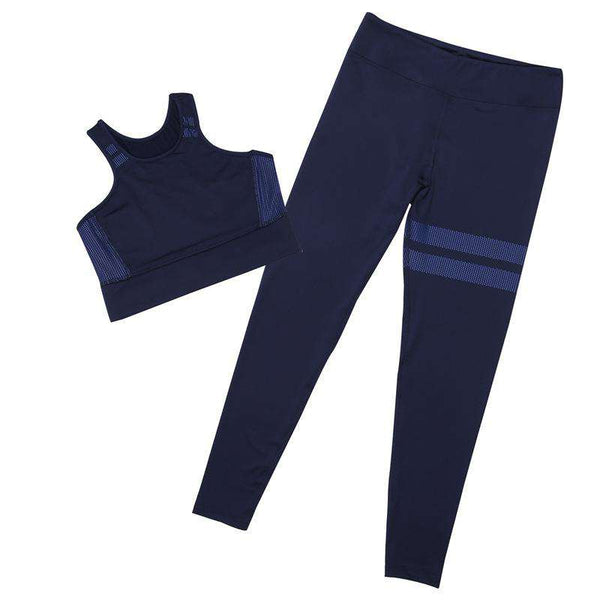 Solid Color Yoga Sports 2 Pieces Set