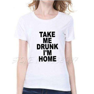 TAKE ME DRUNK I'M HOME T-Shirt in cotone Street - Lupsona