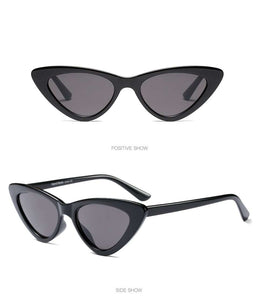 Vintage Triangle Cat Eye Frame Sunglasses