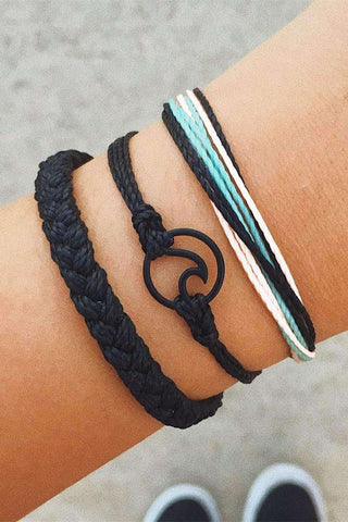 Bohemian Wave Braid Armband Set