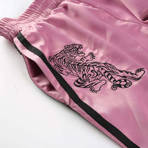 Pantalon Punk Tiger Brodé Rose - Lupsona