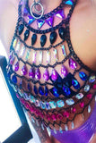 Gem Hollow Out Halter Ciocolată Crop Top - Lupsona