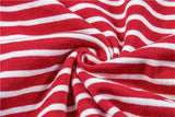 90'S BABY Red Letter Stripe Imprimare Casual T-shirt
