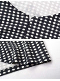 Black White Gingham Back Tie-upp Slim Kjóll
