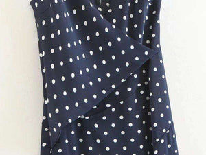 Seksikäs Polka Dots High Slilt Strappy Dress - Lupsona