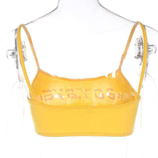 BOY BYE Cool Yellow Strappy Podprsenka Top - Lupsona