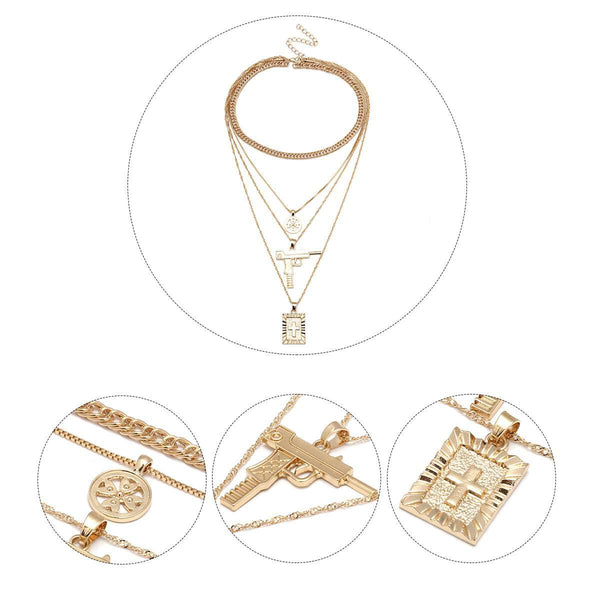 Anti-krigs Cross Multi-Layer Collarbone Necklace - Lupsona