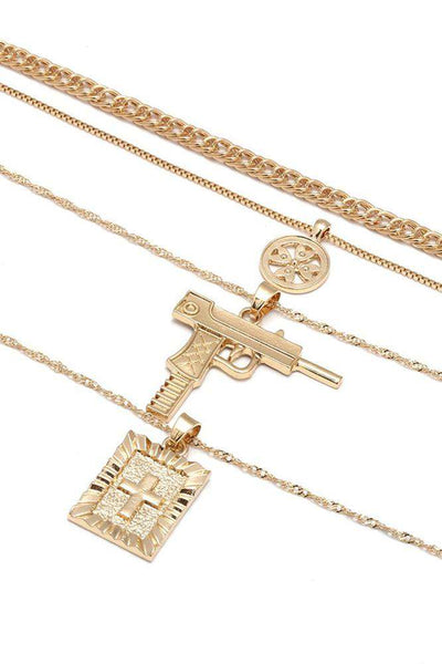 Anti-war Cross Multi-layer Collarbone Necklace - Lupsona