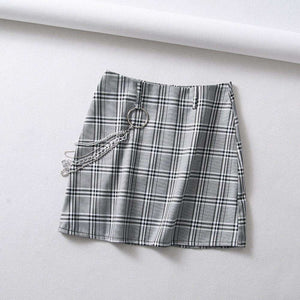 Street Chic Plaid Pattern Visoka krila