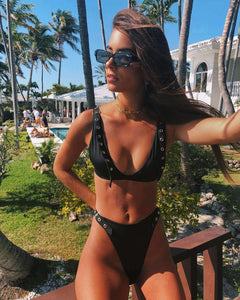 Bikini Black Eyelet 2 Pieces - Lupsona